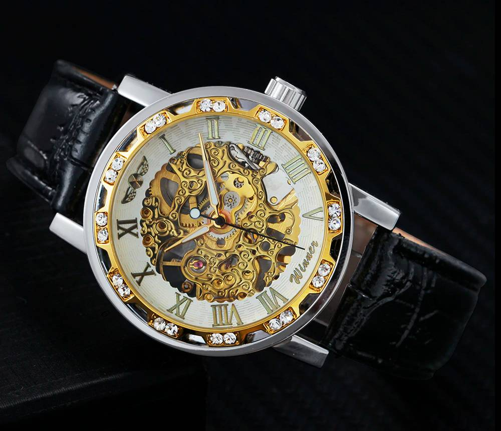 Luxury Automatic Wristwatches for Men with Skeleton Dial