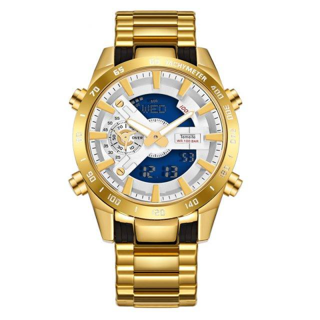 Men's Waterproof LED Dual Display Watches Color: 1