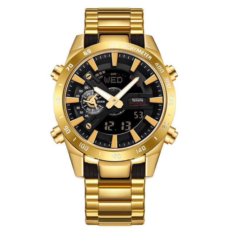 Men's Waterproof LED Dual Display Watches Color: 6