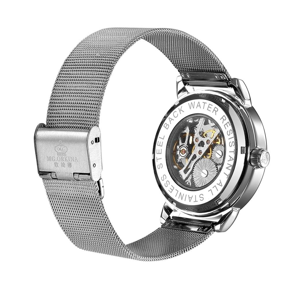 Men's Casual Stainless Steel Mechanical Watches