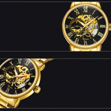 Intricate Auto Mechanical Watch for Men