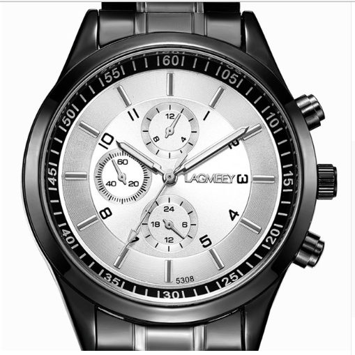 Men's Waterproof Sports Watch Color: Steel White