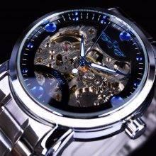 Men's Skeleton Mechanical Watch