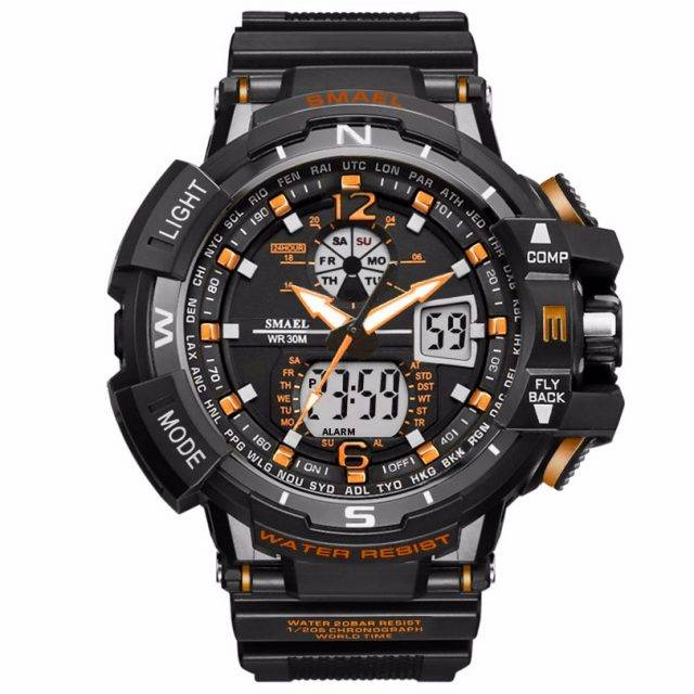 Digital Quartz Sports Watches With Dual Display for Men