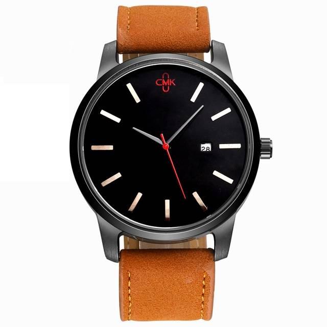 High Quality Casual Quartz Men's Wristwatch Color: Brown / Black