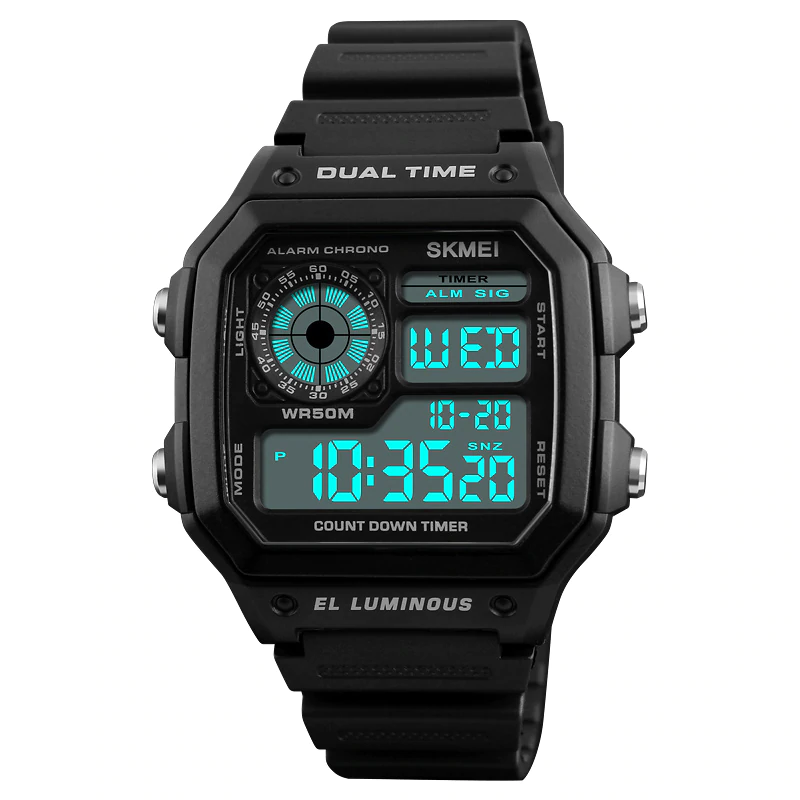 Sports Watches for Men with Digital Movement and LED Display