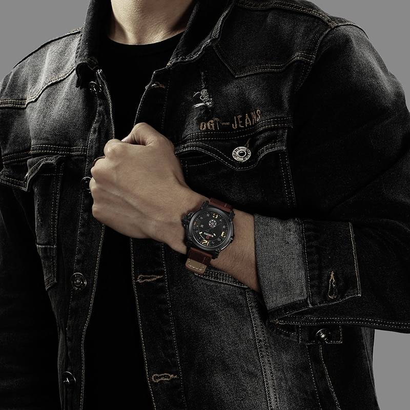 Fashionable Waterproof Quartz Wristwatches for Men