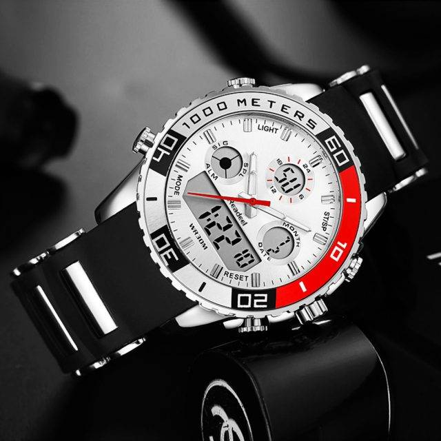Stylish Sports Wristwatches for Men with Dual Dial