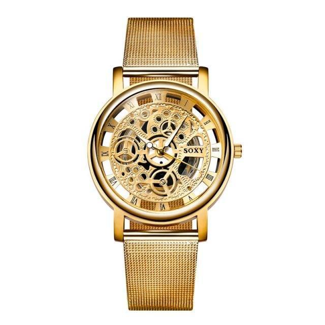 Men's Mesh Belt Quartz Watches