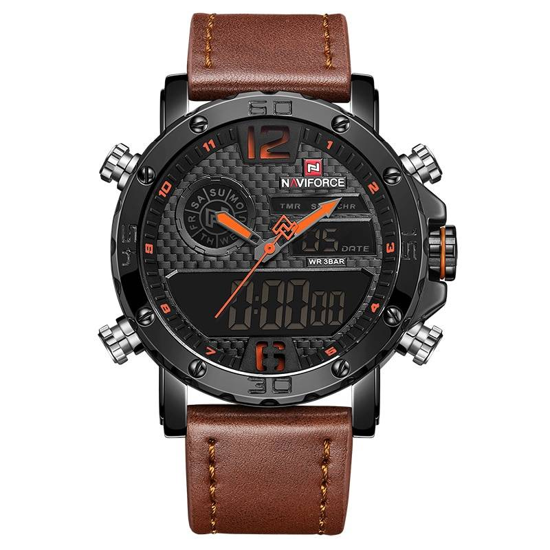 Casual Wristwatches for Men with Leather Strap