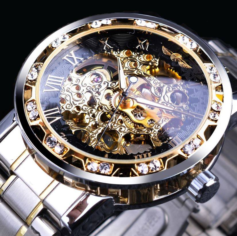 Men's Luxury Diamond Luminous Skeleton Watch