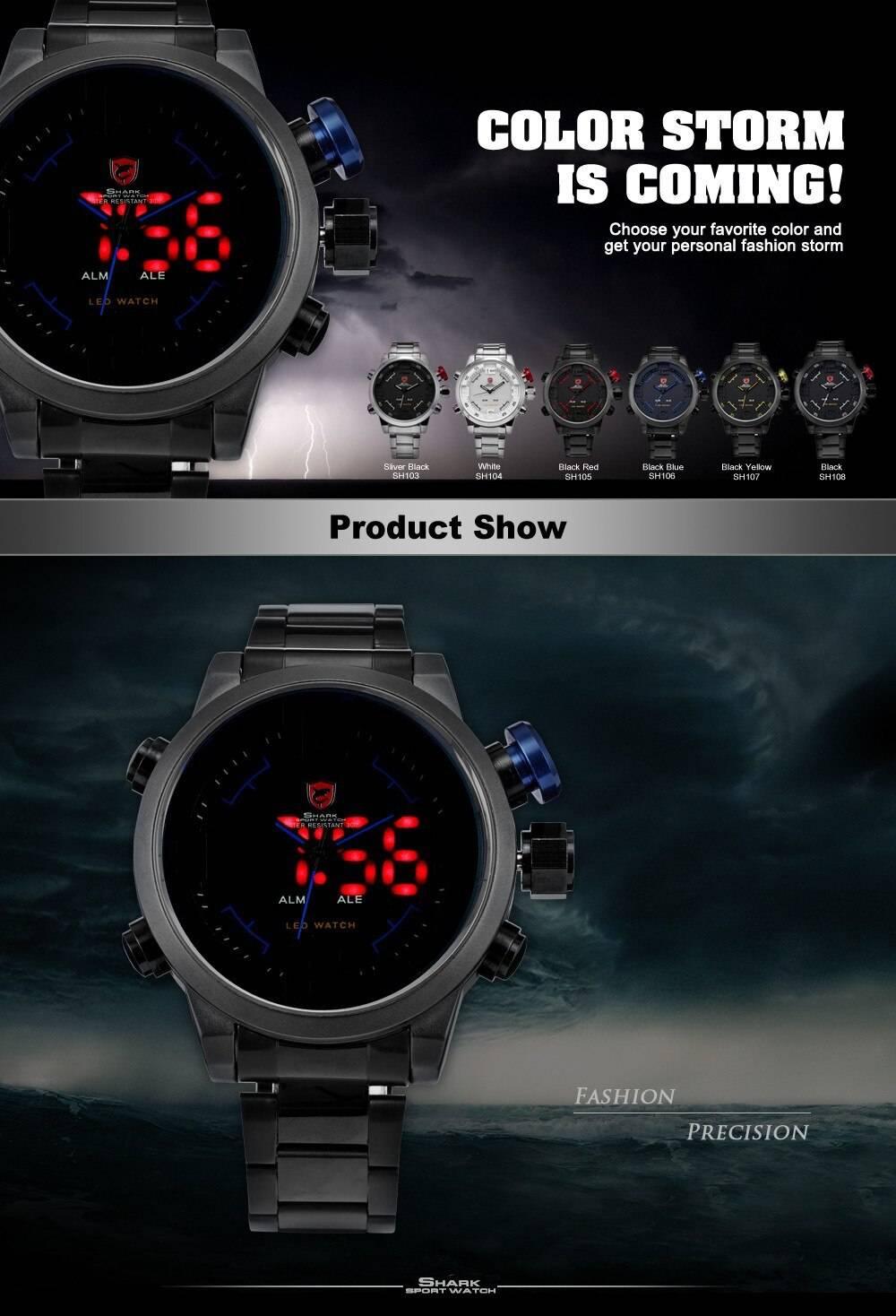 Luxury Style LED Dial Men's Quartz Watch